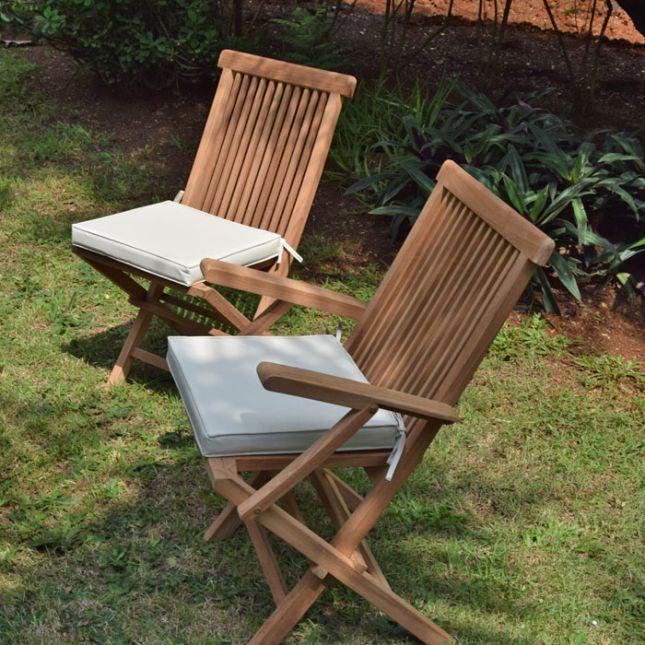Coussin crème pour chaises et fauteuils pliants