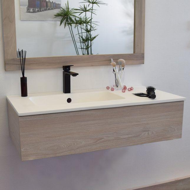 Mitigeur de lavabo noir, Saona