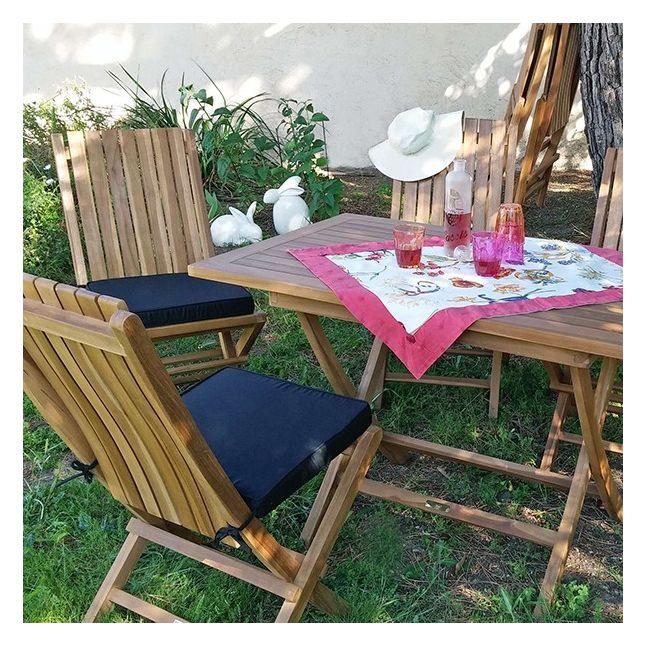 Salon de jardin en teck Ecograde Masaï, 4 places