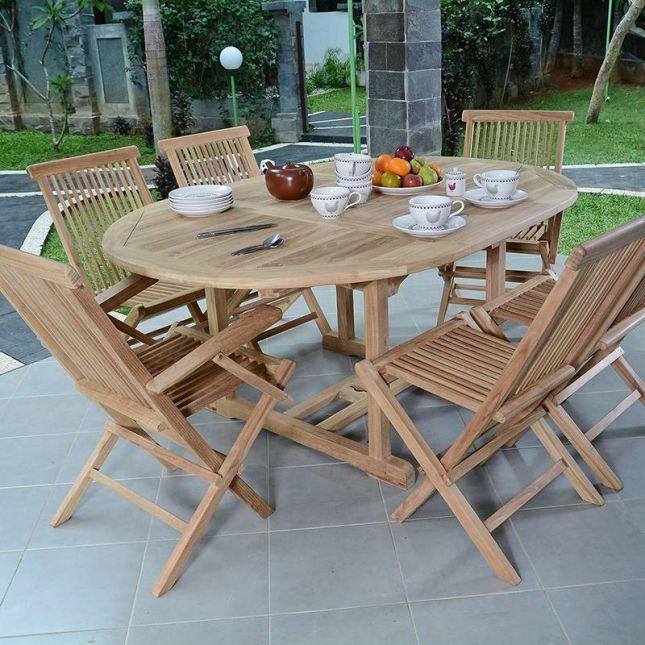 Fauteuils de jardin pliants en teck Java (lot de 2)