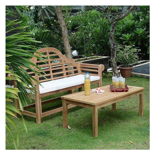 Table basse rectangulaire en teck Ecograde Coffee 120 x 60 cm