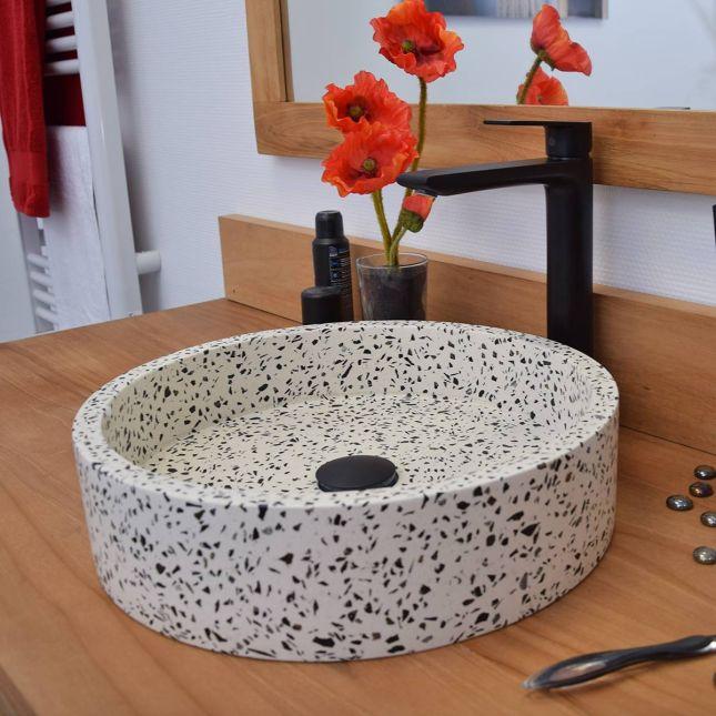 Mitigeur de lavabo vasque noir, Agora