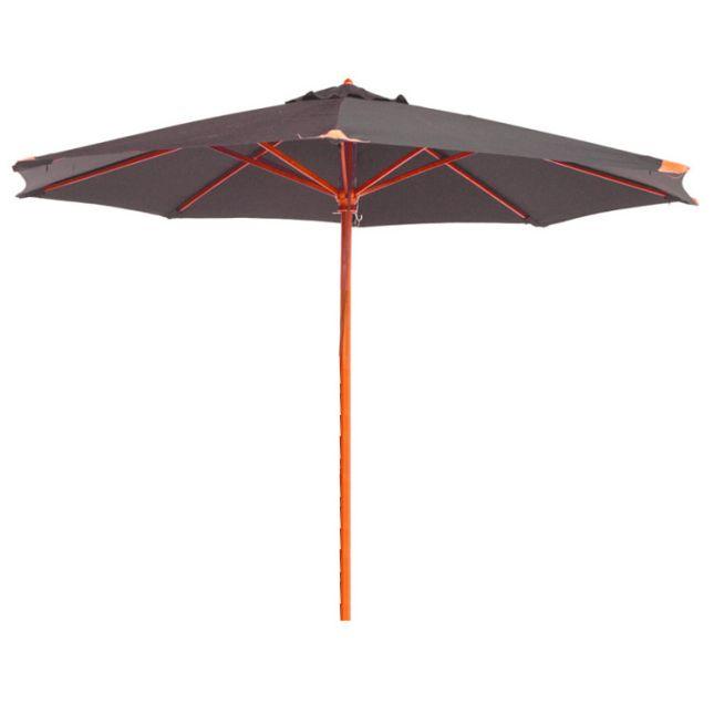 Parasol gris en bois 350 cm Bilbao