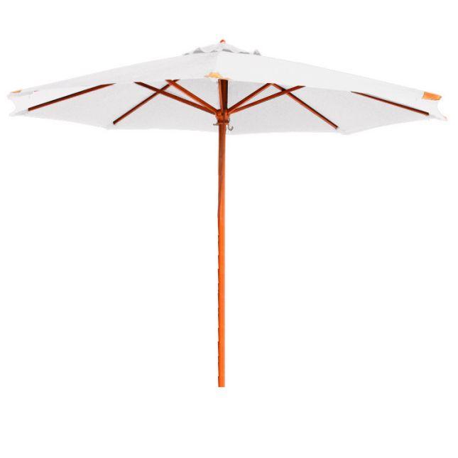 Parasol écru en bois 350 cm Bilbao