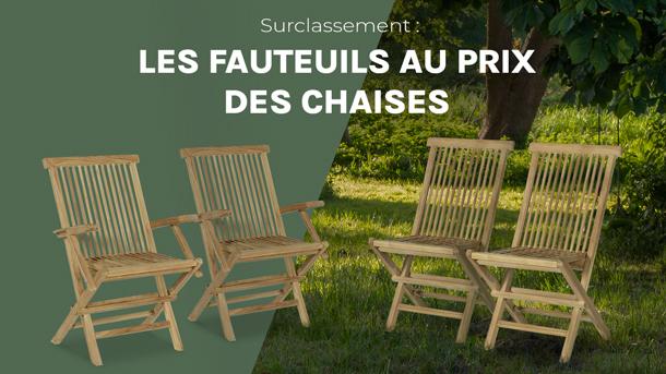 Surclassement : les fauteuils au prix des chaises